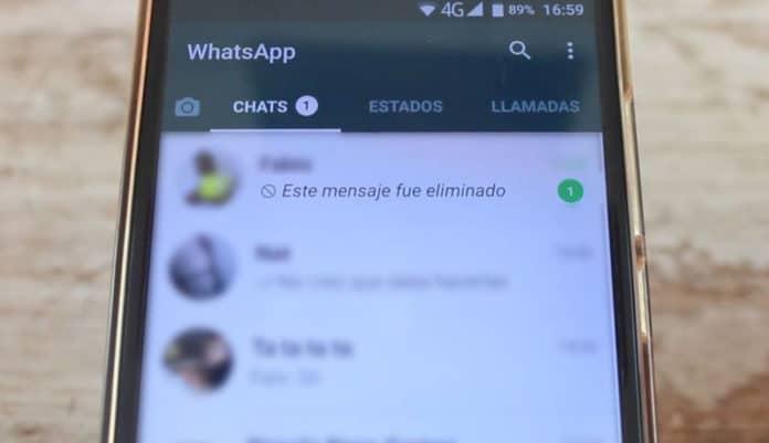 whatsapp mensaje eliminado peritos informaticos